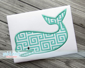 Simple Whale Applique Design Machine Embroidery INSTANT DOWNLOAD