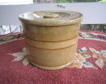 Antique Yelloware Crock with lid