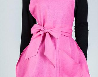 Pink Apron, Stylish Aprons, Women's Apron, Hostess Apron