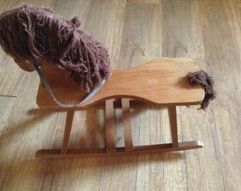 Vintage Doll Rocking Horse made in Romania