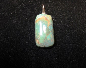 Turquoise, King's Manassa, Pendant gold bail 29ct