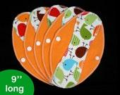 Pantyliners 9'' - Robert Kaufman Urban Zoologie Birds - Washable - Reusable coth pads - Eco-friendly