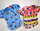 Bitty Baby/15 in. Dolls Twin Boy & Girl Clothes - Pink and Blue Onesies