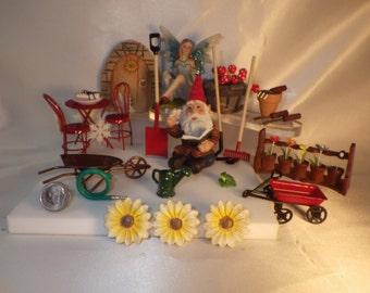 Fairy Garden Basic Starter Set Miniatures Assortment to Build a Fairy Garden