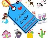Custom order for Jaime Maddon - Custom die cut words - Cursive font