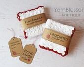 CROCHET PATTERN Country Kitchen with BONUS printable Gift Tags (Dishcloth, Strawberry, Blueberry, Raspberry, Cake, Tart)