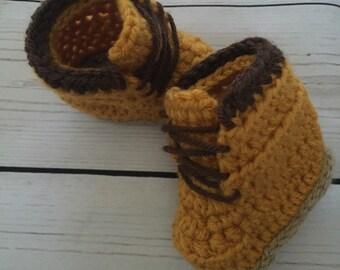 Baby Boy Construction Woodsman Work Fall Boots ~ Sizes 0-18Mos ~  Super Cute!!