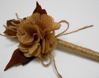 Guest Book Flower Pen / Rustic Flower Pen / Sign In Guest Book Pen / Wedding Pen / Burlap Flower Pen / Wedding Decorations / Rustic Wedding