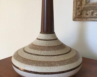 Mid Century Textured Ceramic Lamp