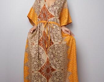 Maxi Dress / Kaftan Long Summer Gown / Boho Maxi Dress : Bohemian Kaftan Collection No.1