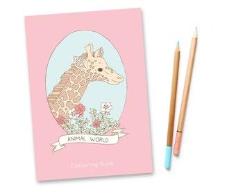 SALE Animal World Colouring Book vol. 2