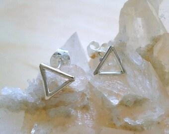 Sterling Silver Triangle stud Earrings