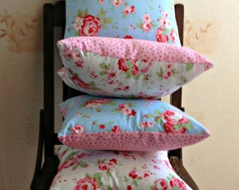 Shabby Chic Fabric Cushion made from Cath Kidston Rosali fabric