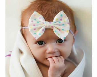 New, Easter { Katie } polka dot bow or headband . Easter headband, baby girl headband, newborn headband