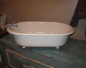 Vintage enamel tubs