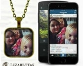 PHOTO NECKLACE - Custom Instagram Necklace - Instagram Photo - Personalized Photo Gifts - Birthday Gift = Anniversary Gift - Special Gift