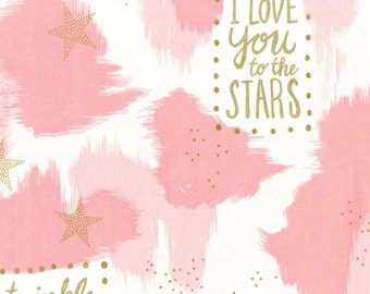 Magic! - You Are Magic Pink with Metallic by Sarah Jane from Michael Miller