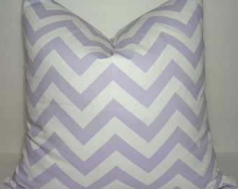 INVENTORY REDUCTION Wisteria Lavender Chevron Zig Zag Pillow Cover Decorative Throw Pillow SIZE 18X18