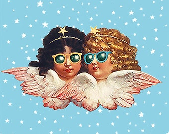 FIORUCCI ANGELS POSTER • Classic 1980s • Printed On Heavy Non-Fade Photo Paper • Whimsical & Fun • High Quality Prints • Limited Edition !