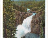 Yellowstone, Upper Fall of the Yellowstone - Vintage Postcard - Unused (PP)