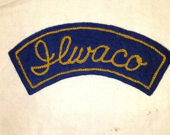 Vintage Jacket Patch Ilwaco, Washington