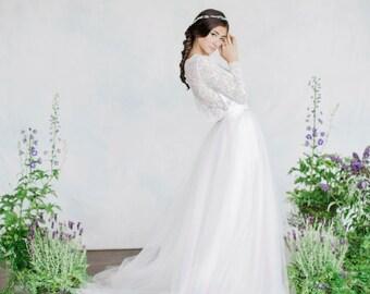 Tulle skirt, Wedding skirt, Tulle wedding skirt, Bridal skirt, Long tulle skirt, Wedding dress, Adult tulle, Bridal separates, Tutu skirt