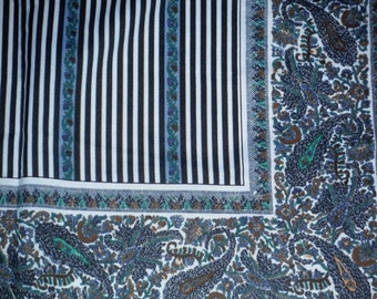 1960s headscarf with paisley pattern by Gina Ruccini