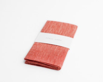 Chambray coral pocket square