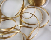 """1/8"""" Double Faced Satin Ribbon - Antique Gold -10 yards"""