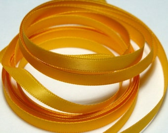 "1/4"" Double Faced Satin Ribbon - Light Gold - 10 yards"