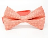 Gold Sparkle Coral Bow Tie for all ages - Pre-tied bowtie - ring bearer, wedding day, photo prop, church, party, holiday
