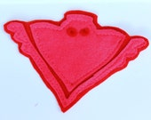 Owlette Felt Applique - Red Pink owlette applique, Owlette Sew On Applique
