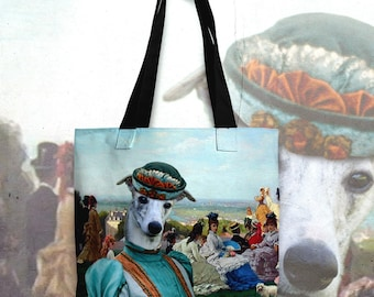 Dog Tote Bag - Whippet Tote Bag - Whippet Art - Whippet Gifts - Whippet NEW Collection by Nobility Dogs