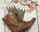 boot socks, brown, tweed, short, slouch, combat boot socks, lacy, winter, fall, cowboy boots, lacy, women, weather boot socks | SLXC2