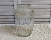 Vintage Pressed Glass Jar Kitchen Bathroom Vanity Apothecary Biscuit Biscotti