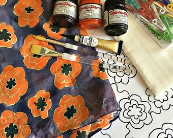 Silk Painting Kit – Craft Kit – Design Your Own Silk Scarf – DIY Craft Projects
