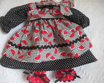 Handmade 4 pc Raggedy Ann Dress for a 18-20'' Doll