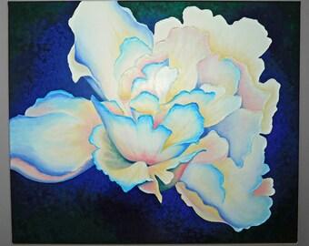 "Peony Acrylic on Canvas Painting, 20 x 24"""