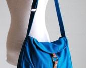 NEW YEAR SALE 30% - Fortuner-S in Teal / Centre Zipper Pocket / Purse / Laptop / Shoulder / Messenger Bag / Handbag / Wallet / Diaper Bag /