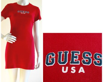 GUESS Red T-shirt Dress