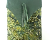 Leather Tassel Shoulder Bag/ e-Reader Tote/ Free US Shipping/ Adjustable Crossbody Bag/ Small Travel Bag