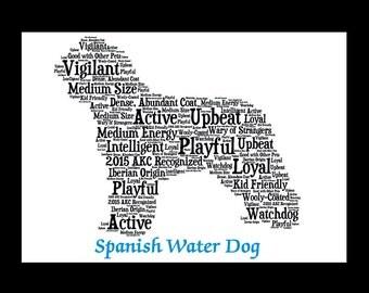 Spanish Water Dog, Spanish Water Dog art, Spanish Water Dog Gift,Spanish Water Dog,Custom Spanish Water Dog,Personalize Spanish Water Dog