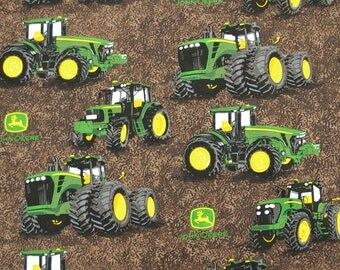 C229 - 110cmx100cm Cotton Fabric - Car - Tractor