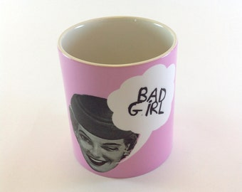 SALE - SEL -  Mug Bad Girl Pink Lady Ceramic Mug 11oz