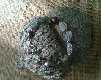Bracelet of semi-precious gemstones.