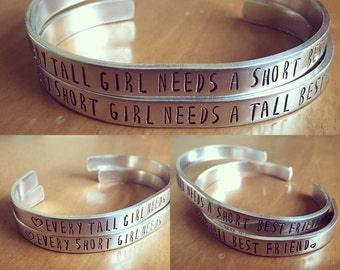 Every tall girl needs a short best friend : Every short girl needs a tall best friend...set of 2