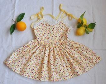 Girls Vintage Inspired Sundress 1950's Silhouette Size 4/5