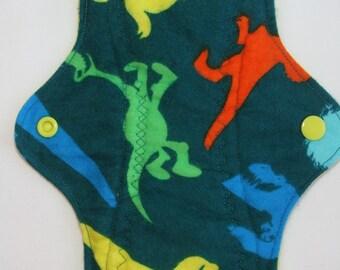 Kiki Mama Cloth Menstrual Pad Size Regular Good Dinosaur Dino