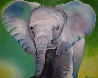 Giclee Print - Baby Elephant
