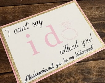 Will you be my Bridesmaid cards, Bridesmaid Cards, Weddings, Bridal Party